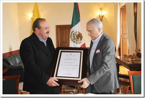 MGV y embajador de Colombia