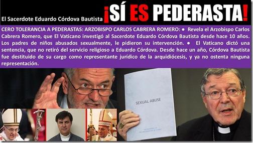 El Sacerdote Eduardo Córdova Bautista ¡SÍ ES PEDERASTA! (1/5)