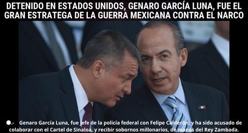 DETENIDO EN EUA GENARO GARCIA LUNA
