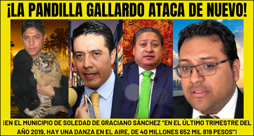 ¡LA PANDILLA GALLARDO ATACA DE NUEVO!