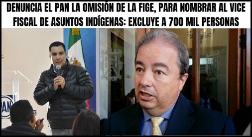 DENUNCIA EL PAN LA OMISIÓN DE LA FIGE