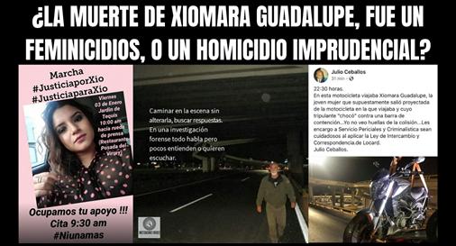 LA MUERTE DE XIOMARA GUADALUPE FUE UN FEMINICIDIOS