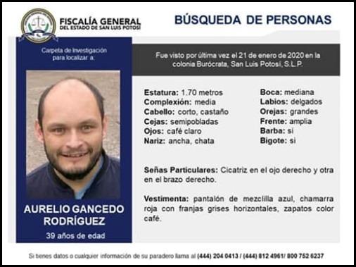 SE BUSCA AURELIO GANCEDO