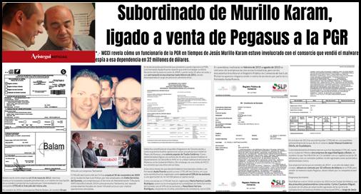 Subordinado de Murillo Karam, ligado a venta de Pegasus a la PGR