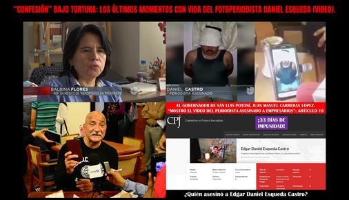 """""""CONFESIÓN"""" BAJO TORTURA_ LOS ÚLTIMOS MOMENTOS CON VIDA DEL FOTOPERIODISTA DANIEL ESQUEDA (VIDEO)."""