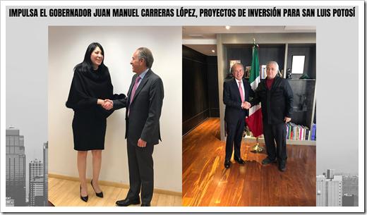 IMPULSA EL GOBERNADOR JUAN MANUEL CARRERAS LÓPEZ, PROYECTOS DE INVERSIÓN PARA SAN LUIS POTOSÍ
