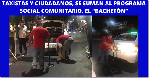 """TAXISTAS Y CIUDADANOS, SE SUMAN AL PROGRAMA SOCIAL COMUNITARIO, EL """"BACHETÓN"""""""