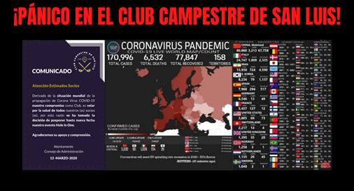 ¡PÁNICO EN EL CLUB CAMPESTRE DE SAN LUIS!