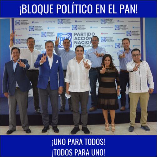 ¡BLOQUE POLÍTICO EN EL PAN!