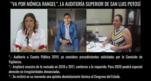 """""""VA POR MÓNICA RANGEL"""", LA AUDITORÍA SUPERIOR DE SAN LUIS POTOSÍ"""