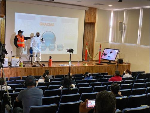 La Universidad Autónoma de San Luis Potosí impartió a su personal curso sobre limpieza y desinfección en el contexto del Covid-19 (1)