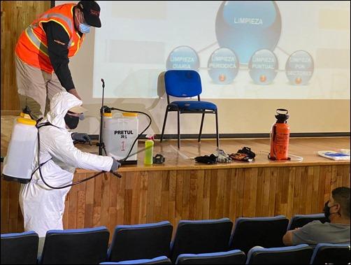 La Universidad Autónoma de San Luis Potosí impartió a su personal curso sobre limpieza y desinfección en el contexto del Covid-19 (2)