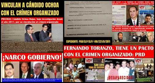 Vinculan a Cándido Ochoa con el crímen organizado