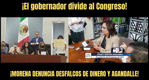 ¡El gobernador divide al Congreso!