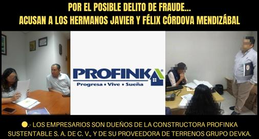 POR EL POSIBLE DELITO DE FRAUDE... ACUSAN A LOS HERMANOS JAVIER Y FÉLIX CÓRDOVA MENDIZÁBAL
