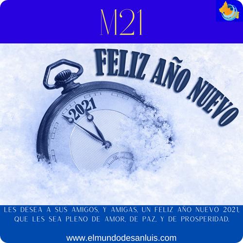 Les desea sus amigos, y amigas, un feliz año nuevo 2021,, que LES sea pleno de amor, de paz, y de prosperidad.